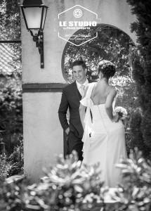Photo mariage noir et Blanc Au Clos des Lys
